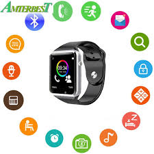 AMTERBEST Wireless Bluetooth <b>Smart Watch</b> with SIM TF Card Slot ...