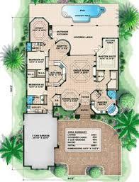 images about FL Houses on Pinterest   Florida House Plans    Plan W WE  Mediterranean  Corner Lot  Florida House Plans  amp  Home Designs