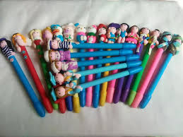 20pcs <b>High quality Polymer clay</b> ballpoint pen in stock ,promotional ...