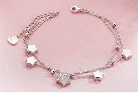 <b>SA SILVERAGE 925</b> Sterling <b>Silver</b> Star Bracelets & Bangles for ...
