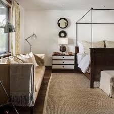 country style bedroom with tan leather tufted sofa bedroom floor lamps design