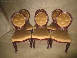 Set Of <b>6</b> Mahogany Balloon Back <b>Dining Chairs</b> - Antiques Atlas ...