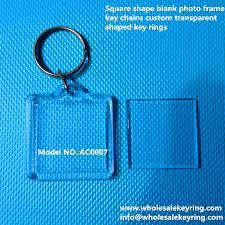 <b>Square</b> shape blank <b>photo frame</b> key chains custom <b>transparent</b> ...