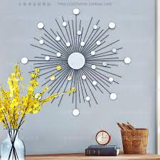 metal wall decor shop hobby: aliexpresscom buy modern mirror wall art sunburst metal wall