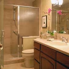 mirror lighting small bathrooms vanity units furniture white ceramic washbasin wood ample storage frosted door glass ample shower lighting