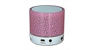 Mini LED Wireless <b>Bluetooth Speaker</b> Cracked Layer <b>USB TF</b> Card ...