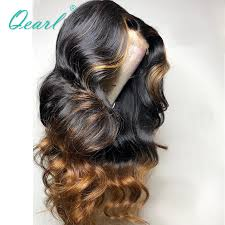 <b>Half Cap Lace 13x6</b> Lace Front Human Hair Wigs with Highlights ...
