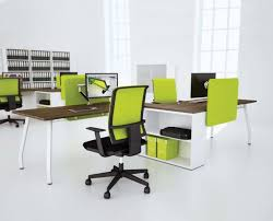 awesome ergonomic office desk design with black and lime green arm chair in cool awesome unique green office design
