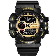 Ready Stock <b>SMAEL 1436 Men</b> Digital Watch Waterproof Watches ...
