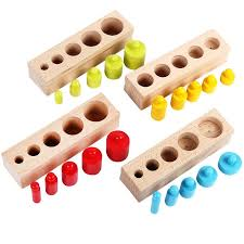 New Arrival Kids Montessori Toys Colorful <b>Socket Cylinder</b> Set ...