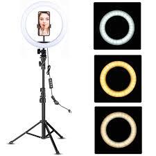 Led <b>Video Ring Light</b> with 51inch Tripod Stand Phone Holder <b>Selfie</b> ...