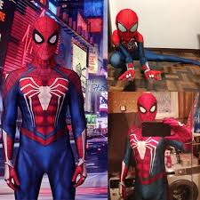 <b>PS4 Insomniac</b> Games <b>Spider-Man</b> Cosplay <b>Costume</b> 3D Printed ...