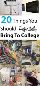 20 things you should definitely bring to college colleges