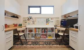 basement home office home office contemporary with two desks work station work station basement home office home