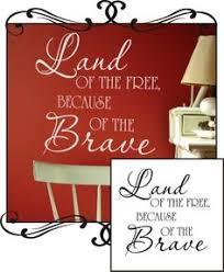 <b>Land</b> Of The Free <b>wall art</b>! Great for 4th of July! | Christian wall ...