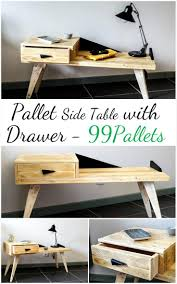 ideas bedside tables pinterest night: creative pallet side table with drawer  pallets