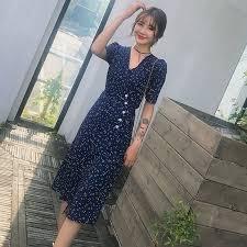 AIPEACE <b>summer Women</b> Dress Elegant fashion granny chic blue ...