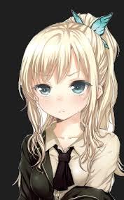 Resultat d'imatges de girl anime blond hair blue eyes