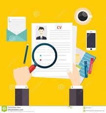 job interview resume cv concept flat design stock vector cv resume job interview concept writing a resume stock images