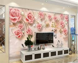 Zxcie Custom Wallpaper <b>Relief</b> Rose Living Room Bedroom - Wall ...
