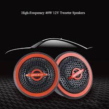 1 Set <b>Universal 12V</b> 40W <b>Car</b> Stereo <b>Tweeter</b> Small Treble Head ...