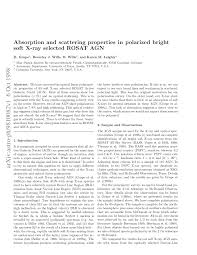(PDF) Absorption and scattering properties in polarized <b>bright</b> soft <b>X</b> ...