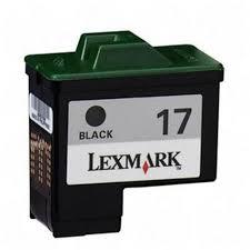 <b>Lexmark 17 Black</b> Ink Cartridge - Black - Package: 1   Black ink ...