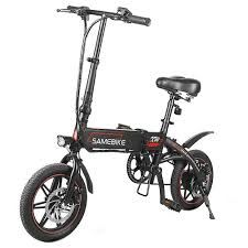 <b>Samebike YINYU14 Folding</b> Bicycle Moped Bike Black