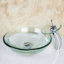 bathroom countertop basins wholesale: best bathroom transparent glass basin sink countertop bath basin vessel vanity tempered glass bowl ship with