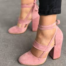 2017 <b>Women</b> Comfortable Round Toe Suede Heels <b>Summer</b> Straps ...