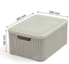 Baskets & Bins Glenmore <b>Plastic Storage</b> Box with Lid <b>Folding</b> ...