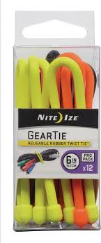 "<b>Гибкие стяжки Nite</b> Ize Gear Tie ProPack 6"", 12 шт. — купить в ..."