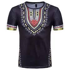 TUDUZ Men's T-Shirt Men's Summer Casual <b>African Style Ethnic</b> ...