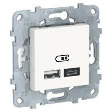 Купить <b>Schneider Electric</b> NU501818 <b>розетка USB</b> Unica NEW, 2 ...