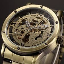 popular bronze watch men buy cheap bronze watch men lots from full stainless steel brand vintage bronze men watches skeleton clock male antique casual automatic mechanical watches