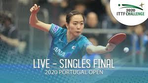 LIVE - <b>Men's</b> & <b>Women's Singles</b> Final | 2020 ITTF Portugal Open ...