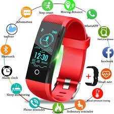 <b>LIGE 2019 Smart Bracelet</b> Women Sleep Monitor LED Color ...