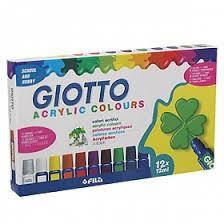 <b>GIOTTO ACRYLIC</b> PAINT Акриловые <b>краски</b> 12 цветов по 12 мл