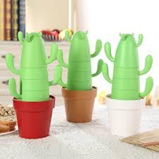 <b>4 pieces</b> /<b>set Stackable</b> Cactus Plant Mugs Set for Coffee or Tea ...