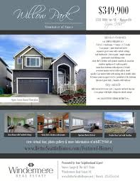 flyer willow park marysville real estate mls 729540 abundance of space step inside this 2550sf 4 bed bonus home to extensive hw floors soaring 2 story entry open great room concept in lake stevens