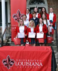 academic signing university of louisiana lafayette schools sarah frey reilly perkins maci quebedeaux miller ezell melissa wimberley madeline brown and anna paddock not pictured brittney trosclair