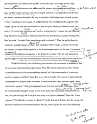 trifles by susan glaspell students teaching english paper strategies second peer edit page 1