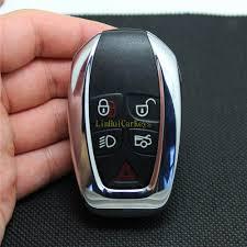 PINECONE <b>Key Case</b> for JAGUAR XJ XJL Remote <b>Key</b> 5 Buttons ...