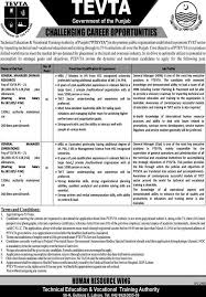 jobs in vocational training authority tevta