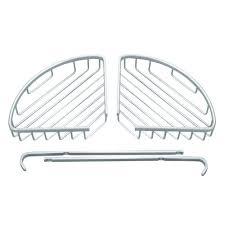 Shop Double Tiers <b>Triangle</b> Bathroom Corner Shelf Basket <b>Space</b> ...