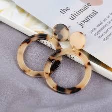 New Fashion <b>Leopard Earrings</b> Acetate <b>Earrings</b> Personality ...