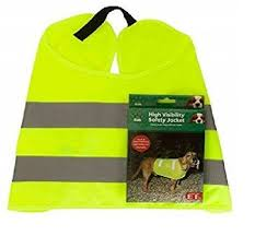 <b>Pet Dog High Visibility</b> Safety Jacket Visible at Night Vest Walking ...