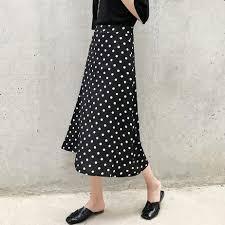 2019 Women Summer <b>Skirt</b> 2019 <b>Korean Streetwear</b> Vintage Polka ...