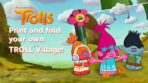 dreamworks create crafts fold your troll village