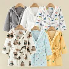 <b>Children Bath</b> Robes Flannel <b>Winter Kids</b> Sleepwear Robe Infant ...